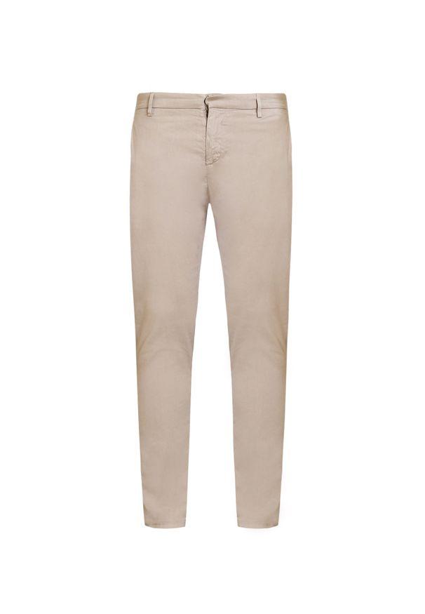 Beżowe spodnie Dondup na co dzień, z aplikacjami, eleganckie