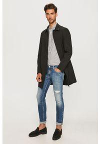 Szara koszula Calvin Klein Jeans długa, na co dzień, casualowa