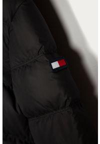 Czarna kurtka TOMMY HILFIGER casualowa, na co dzień, z kapturem