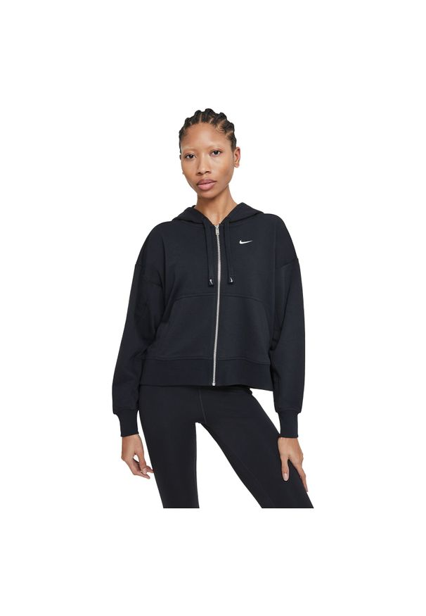 Bluza damska fitness Nike Get Fit DA0378. Typ kołnierza: kaptur. Materiał: dzianina, materiał, poliester. Technologia: Dri-Fit (Nike). Sport: fitness