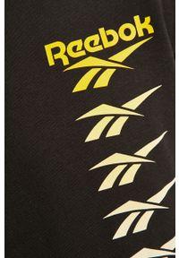 Czarna bluza nierozpinana Reebok Classic na co dzień, z okrągłym kołnierzem