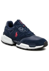 Polo Ralph Lauren - Sneakersy POLO RALPH LAUREN - Polo Jgr Pp 809821087002 Navy. Okazja: na co dzień. Kolor: niebieski. Materiał: zamsz, materiał, skóra. Szerokość cholewki: normalna. Styl: casual, sportowy