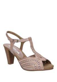 Różowe sandały Pitillos na lato, eleganckie