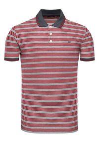 Jack&Jones PREMIUM Polo Bluwin 12190262 Czerwony Regular Fit. Typ kołnierza: polo. Kolor: czerwony