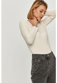Biały sweter Answear Lab z długim rękawem, gładki