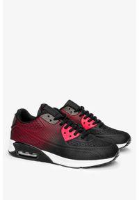 Casu - Czarne buty sportowe sznurowane casu a3363-3. Kolor: czarny, czerwony, wielokolorowy