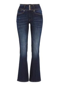 Niebieskie spodnie Cellbes z podwyższonym stanem, krótkie