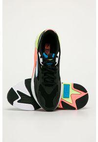Czarne sneakersy Puma na sznurówki, z okrągłym noskiem, z cholewką #4