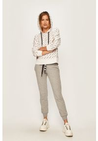 Biała bluza DKNY z kapturem, na co dzień, casualowa