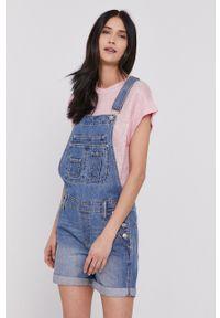 Pepe Jeans - Ogrodniczki Abby Fabby. Okazja: na co dzień. Kolor: niebieski. Styl: casual