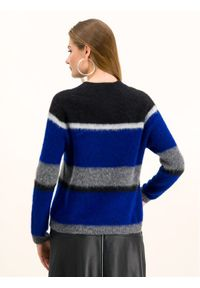 Sweter klasyczny Sportmax Code w kolorowe wzory