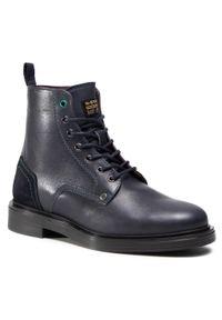 Niebieskie buty zimowe G-Star RAW z cholewką, klasyczne