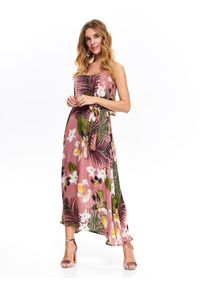 Różowa sukienka TOP SECRET koszulowa, maxi #6