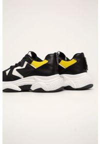 Czarne buty sportowe Answear Lab z okrągłym noskiem, z cholewką, na obcasie, na sznurówki