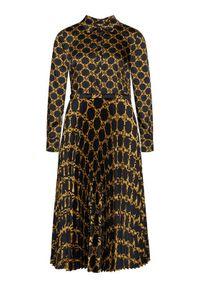 Sukienka TwinSet w kolorowe wzory, koszulowa