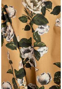 Marie Zélie - Sukienka Galatea Rosa rugosa. Materiał: bawełna, wiskoza, materiał, elastan, skóra