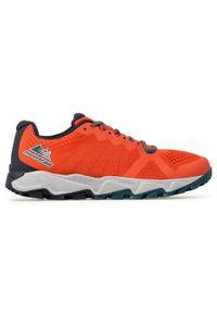 Pomarańczowe buty do biegania columbia z cholewką