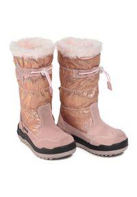Różowe buty zimowe Sergio Bardi Young z cholewką, na spacer
