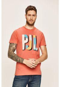 T-shirt Pepe Jeans z okrągłym kołnierzem, z nadrukiem