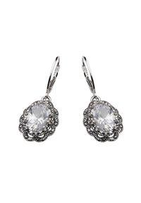 Polcarat Design - Kolczyki srebro cyrkonia K 995. Materiał: srebrne. Kamień szlachetny: cyrkonia