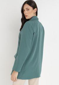 Born2be - Zielona Marynarka Pentherine. Kolor: zielony. Długość: długie. Styl: wizytowy, elegancki #6