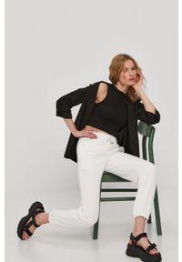 Białe spodnie dresowe TALLY WEIJL gładkie