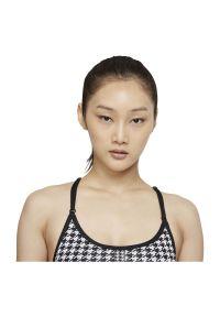 Biustonosz damski Nike Dri-FIT Indy Icon Clash DD1086. Materiał: nylon, materiał, poliester. Rodzaj stanika: wyciągane miseczki. Technologia: Dri-Fit (Nike). Sport: joga i pilates, turystyka piesza