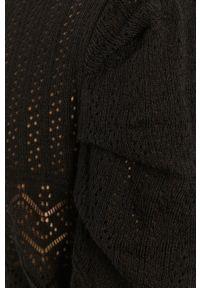 Czarny sweter Answear Lab z okrągłym kołnierzem, długi, wakacyjny #6