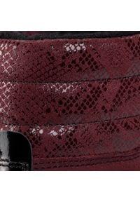 Bartek - Trapery BARTEK - 97403 Bordo. Okazja: na spacer. Kolor: czerwony. Materiał: skóra, zamsz. Szerokość cholewki: normalna