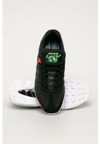Czarne sneakersy Nike Sportswear Nike Air Max, z okrągłym noskiem, na sznurówki