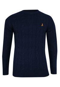 Niebieski sweter Brave Soul na spotkanie biznesowe, biznesowy
