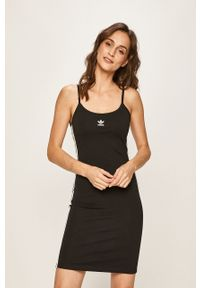 Czarna sukienka adidas Originals casualowa, na co dzień