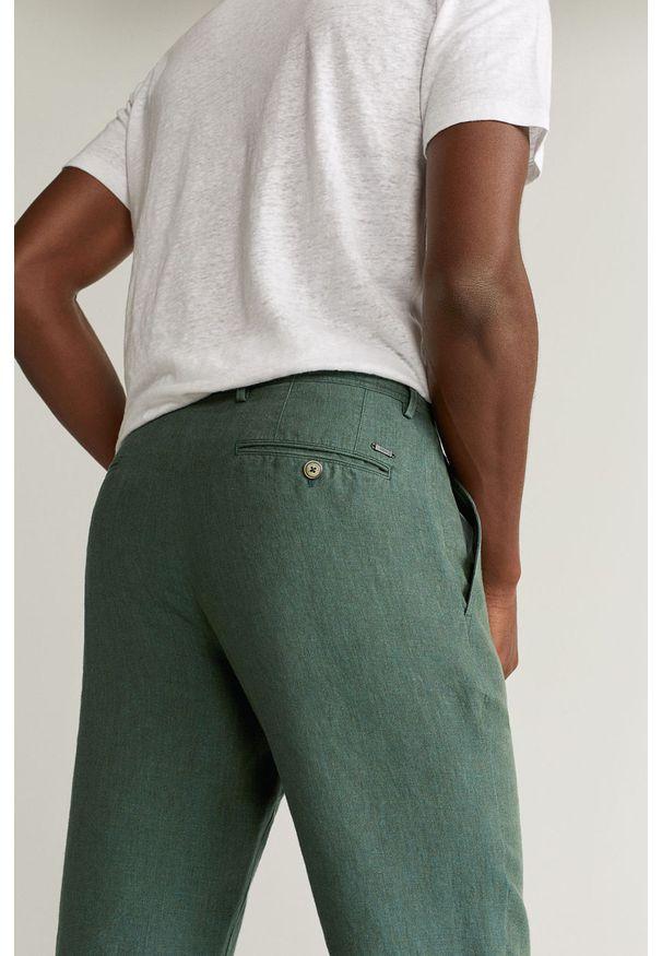 Zielone spodnie Mango Man