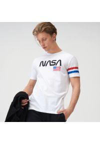 Sinsay - Koszulka NASA - Biały. Kolor: biały