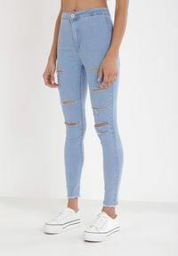 Born2be - Jasnoniebieskie Jeansy Skinny Salonophe. Kolor: niebieski. Materiał: jeans
