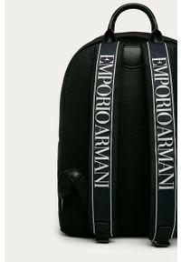 Niebieski plecak Emporio Armani z nadrukiem