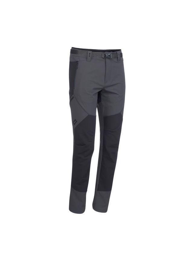 FORCLAZ - Spodnie turystyczne - TREK 900 - męskie. Kolor: szary. Materiał: materiał, syntetyk, tkanina. Wzór: ze splotem