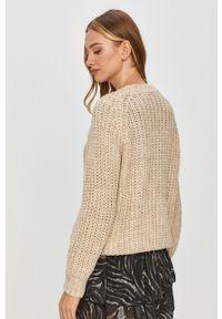 Beżowy sweter Answear Lab długi, wakacyjny, z długim rękawem
