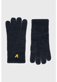 Lyle & Scott - Rękawiczki. Kolor: niebieski