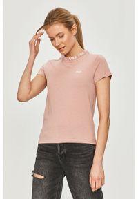 Różowa bluzka Fila casualowa, na co dzień