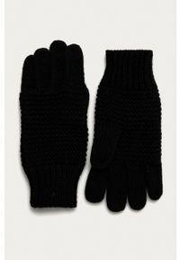 Stefanel - Rękawiczki. Kolor: czarny