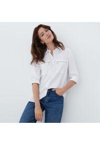 Mohito - Koszula z kieszeniami - Biały. Kolor: biały