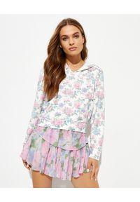 LOVE SHACK FANCY - Wzorzysta bluza z kapturem Kirby. Typ kołnierza: kaptur. Kolor: niebieski. Materiał: bawełna. Wzór: kwiaty. Styl: klasyczny