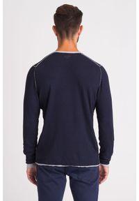 JOOP! Jeans - GRANATOWY SWETER JOOP! JEANS. Kolor: niebieski. Wzór: aplikacja. Styl: klasyczny