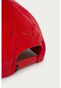 Czerwona czapka z daszkiem Puma gładkie