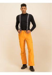 Pomarańczowe spodnie sportowe Spyder narciarskie