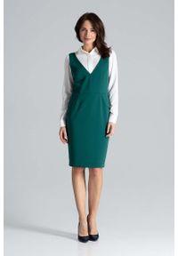 Zielona sukienka Katrus ołówkowa, midi