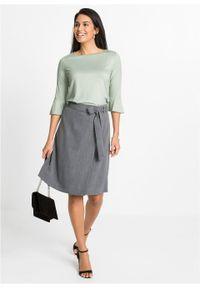 Shirt bonprix zielonoszary. Kolor: szary