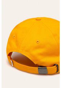 Pomarańczowa czapka z daszkiem Vans z aplikacjami