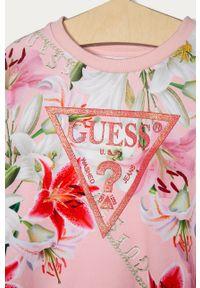 Różowa bluza Guess bez kaptura